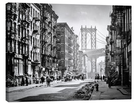 Canvas print  Historic New York: Pike and Henry Streets, Manhattan - Christian Müringer