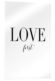 Acrylglas print  Love first - Amy and Kurt