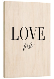 Hout print  Love first - Amy and Kurt