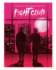 Premium poster Fight Club movie scene art print