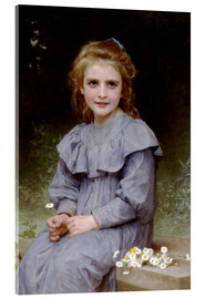 Acrylglas print  daisy - William Adolphe Bouguereau