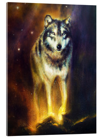 Acrylglas print  Cosmic Wolf - Kidz Collection