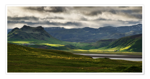 Premium poster The beauty of Iceland
