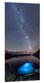 PVC print  Panoramic of Milky Way on Mont Blanc, France - Roberto Sysa Moiola
