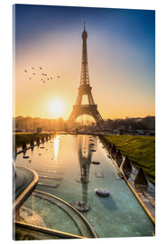 Acrylglas print  Romantic sunrise at the Eiffel Tower in Paris, France - Jan Christopher Becke