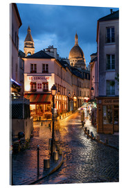 Acrylglas print  Street in Montmartre with Basilica of Sacre Coeur, Paris, France - Jan Christopher Becke