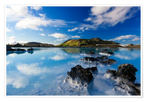 Premium poster Blue Lagoon in Iceland