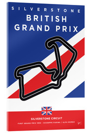 Acrylglas print  F1 Silverstone Race Track - chungkong