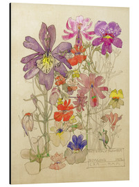 Aluminium print  Butterfly Flower, Bowling - Charles Rennie Mackintosh