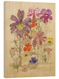 Hout print  Butterfly Flower, Bowling - Charles Rennie Mackintosh