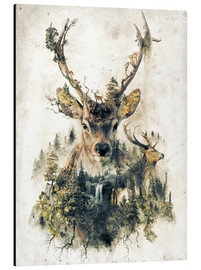 Aluminium print  Deer nature, surrealism - Barrett Biggers