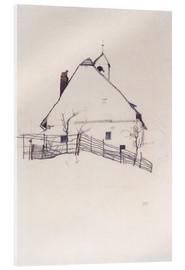 Acrylglas print  House with Bell Tower - Egon Schiele