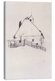 Canvas print  House with Bell Tower - Egon Schiele