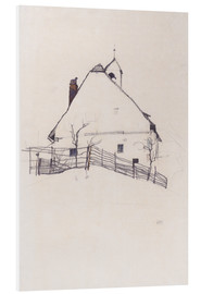 PVC print  Residential house with fence - Egon Schiele