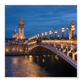 Premium poster Les Invalides and Pont Alexandre III in Paris, France