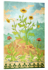 Acrylglas print  Sunflowers and Poppies - Paul Ranson