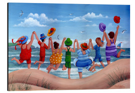 Aluminium print  Beach party rainbow scene - Peter Adderley