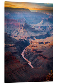 Acrylglas print  Amazing Sunrise of the Grand Canyon