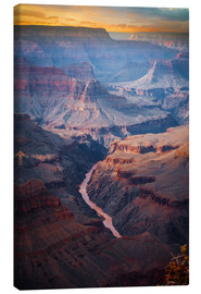 Canvas print  Amazing Sunrise of the Grand Canyon