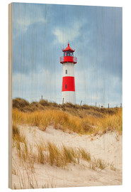 Hout print  Lighthouse in the east of the peninsula, Ellenbogen