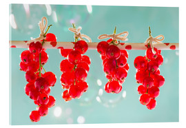 Acrylglas print  Red currants full - K&L Food Style