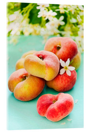Acrylglas print  Summer peaches - K&L Food Style
