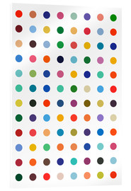 Acrylglas print  Damien hommage - Colourful polkadots - THE USUAL DESIGNERS