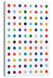 Canvas print  Damien hommage - Colourful polkadots - THE USUAL DESIGNERS