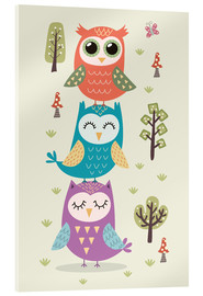 Acrylglas print  Three owls - Kidz Collection