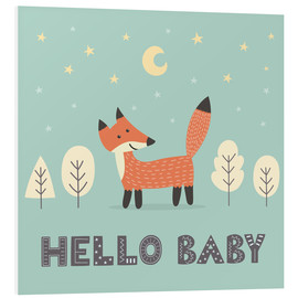 PVC print  A little fox standing in the forest - Kidz Collection