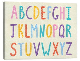 Canvas print  Colorful ABC letters - Typobox