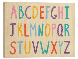 Hout print  Colorful ABC letters - Typobox