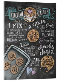 Acrylglas print  Chocolate chip cookies recept (Engels) - Lily & Val