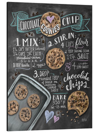 Aluminium print  Chocolate chip cookies recept (Engels) - Lily & Val
