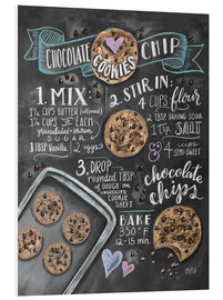 PVC print  Chocolate chip cookies recipe. - Lily & Val