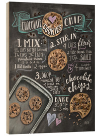 Hout print  Chocolate chip cookies recept (Engels) - Lily & Val