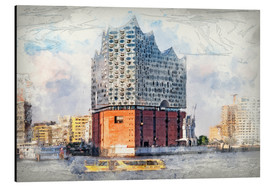 Aluminium print  The new Elbphilharmonie, Hamburg - Peter Roder