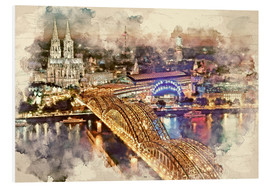 PVC print  Cologne Skyline Cologne Cathedral - Peter Roder