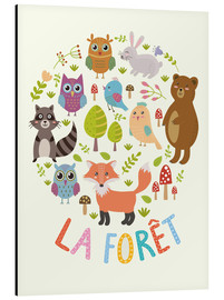 Aluminium print  The Forest (French) - Kidz Collection