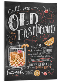 Acrylglas print  Old fashioned recept (Engels) - Lily & Val