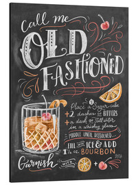 Aluminium print  Old fashioned recept (Engels) - Lily & Val