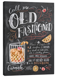 Canvas print  Old fashioned recept (Engels) - Lily & Val