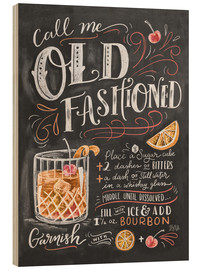 Hout print  Old fashioned recipe - Lily & Val