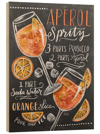 Hout print  Aperol Spritz - Lily & Val