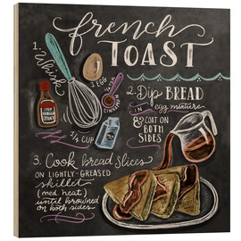 Hout print  French toast recept (Engels) - Lily & Val