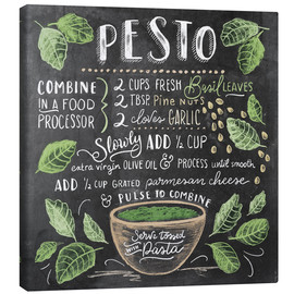 Canvas print  Pesto recept (Engels) - Lily & Val