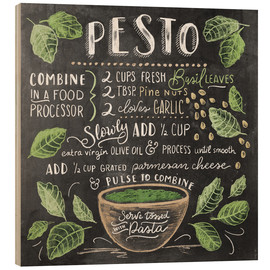 Hout print  Pesto recept (Engels) - Lily & Val