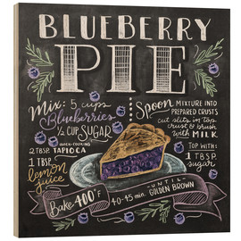 Hout print  Blueberry pie recipe - Lily & Val