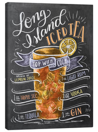 Canvas print  Long Island Iced Tea recept (Engels) - Lily & Val