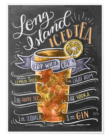 Premium poster  Long Island Iced Tea recept (Engels) - Lily & Val